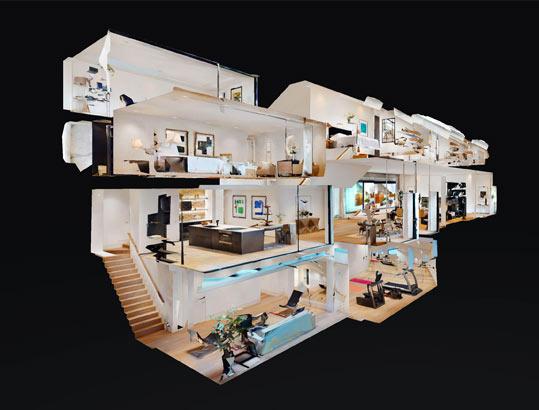 Vue maison de poupée Matterport Dordogne 3D